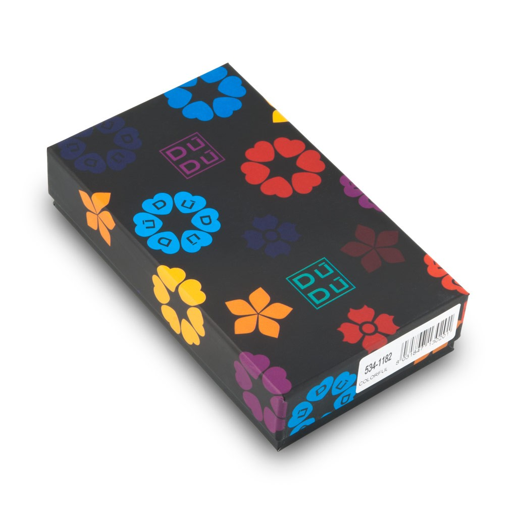 DuDu Compact multi color credit card holder wallet - Black
