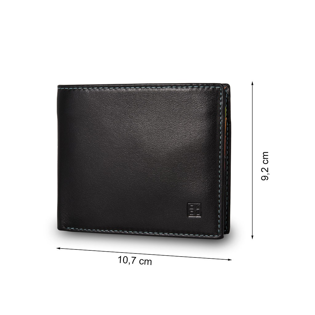 DuDu Mans genuine leather wallet - Black