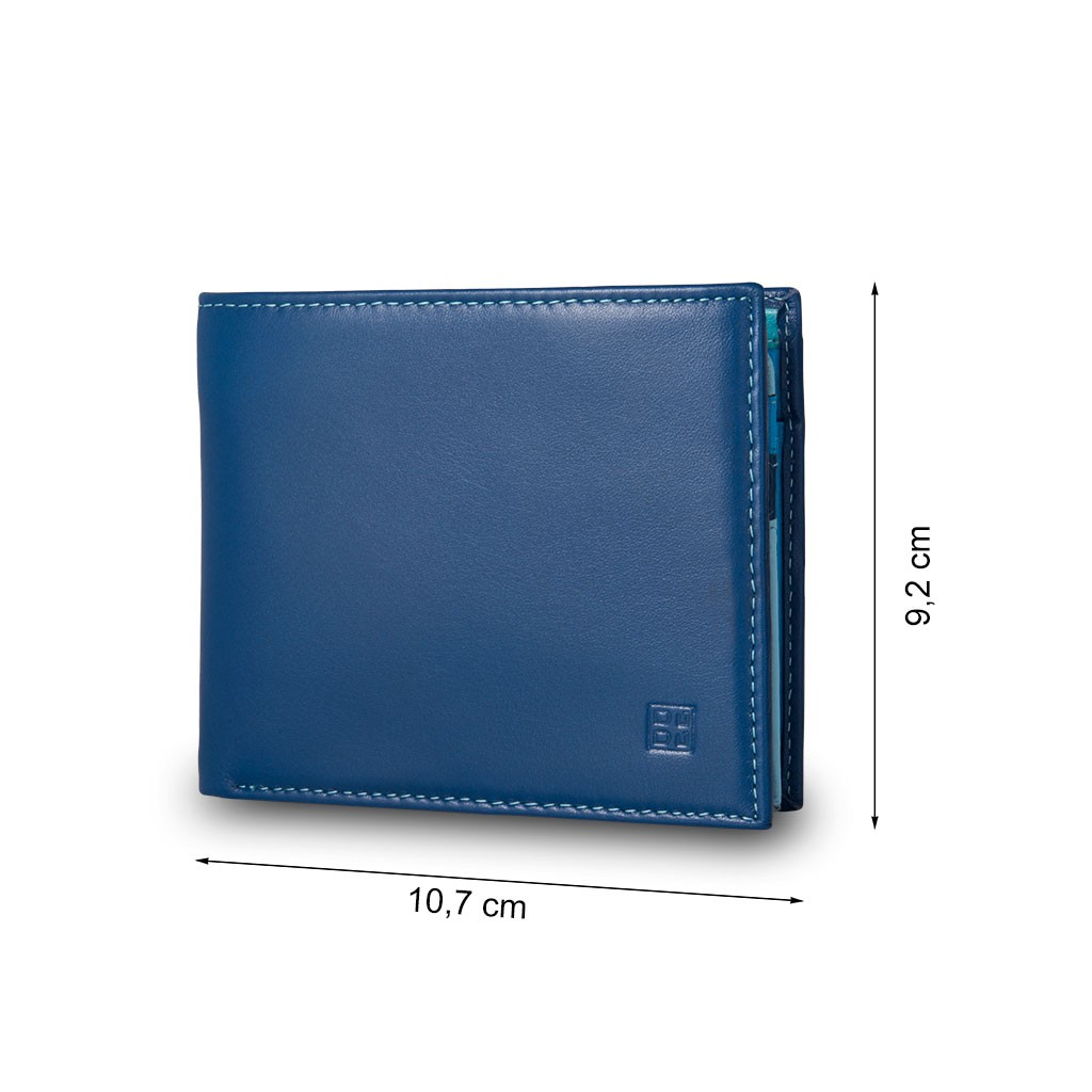 DuDu Mans genuine leather wallet - Blue