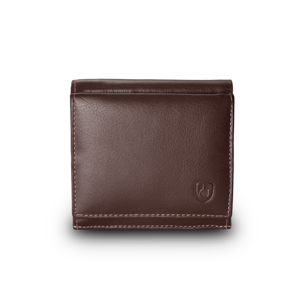 dv Small mans elegant billfold wallet  - Brown