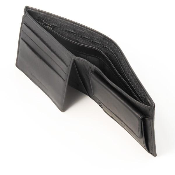 dv ארנק עור איכותי עם תא למטבעות - שחור