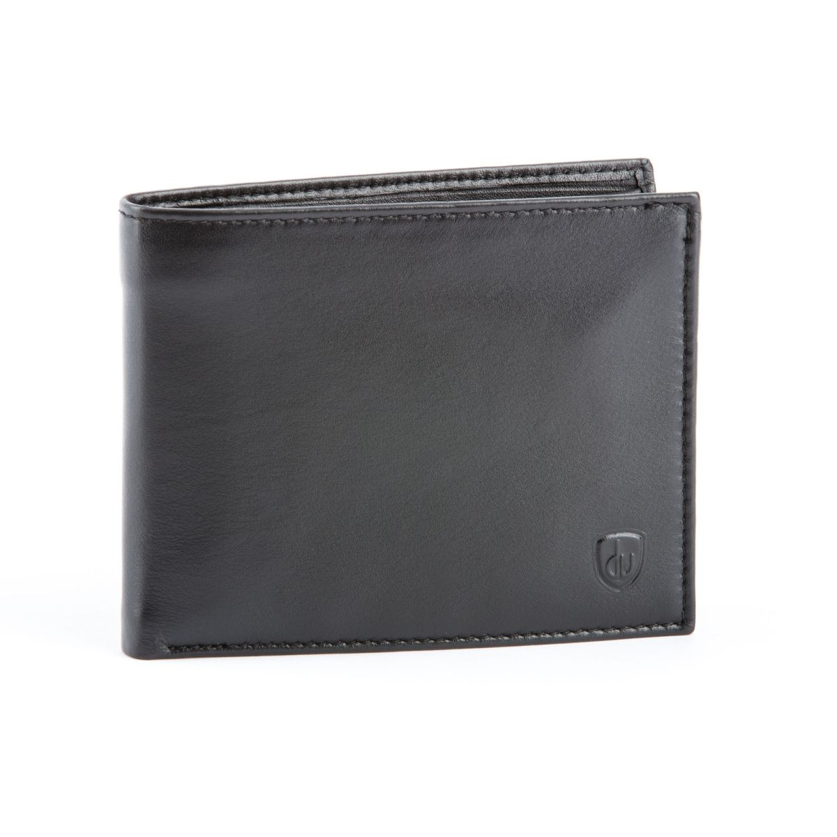 dv Leather Wallet for men with inner flap side - Black