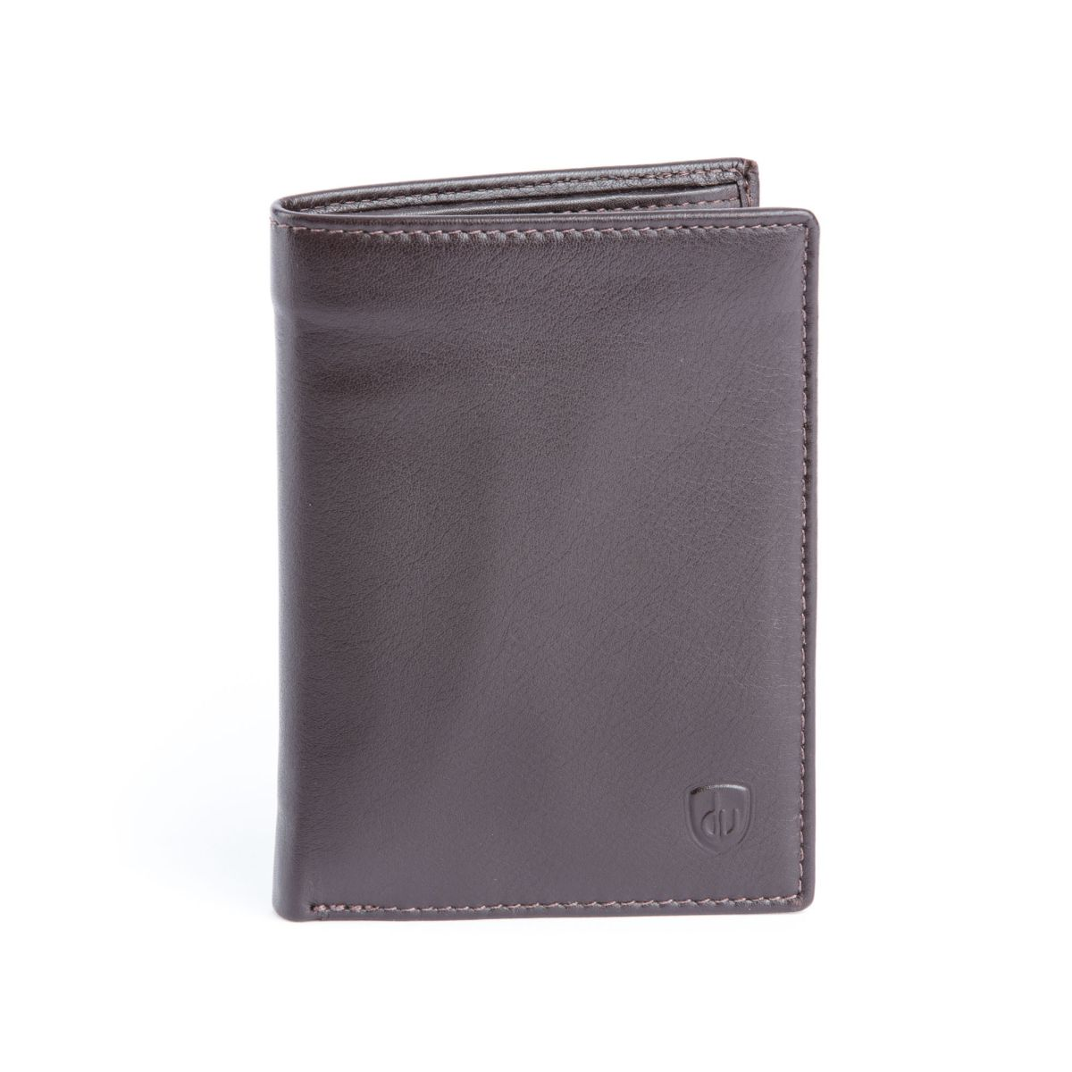 dv Mens leather vertical wallet - Brown