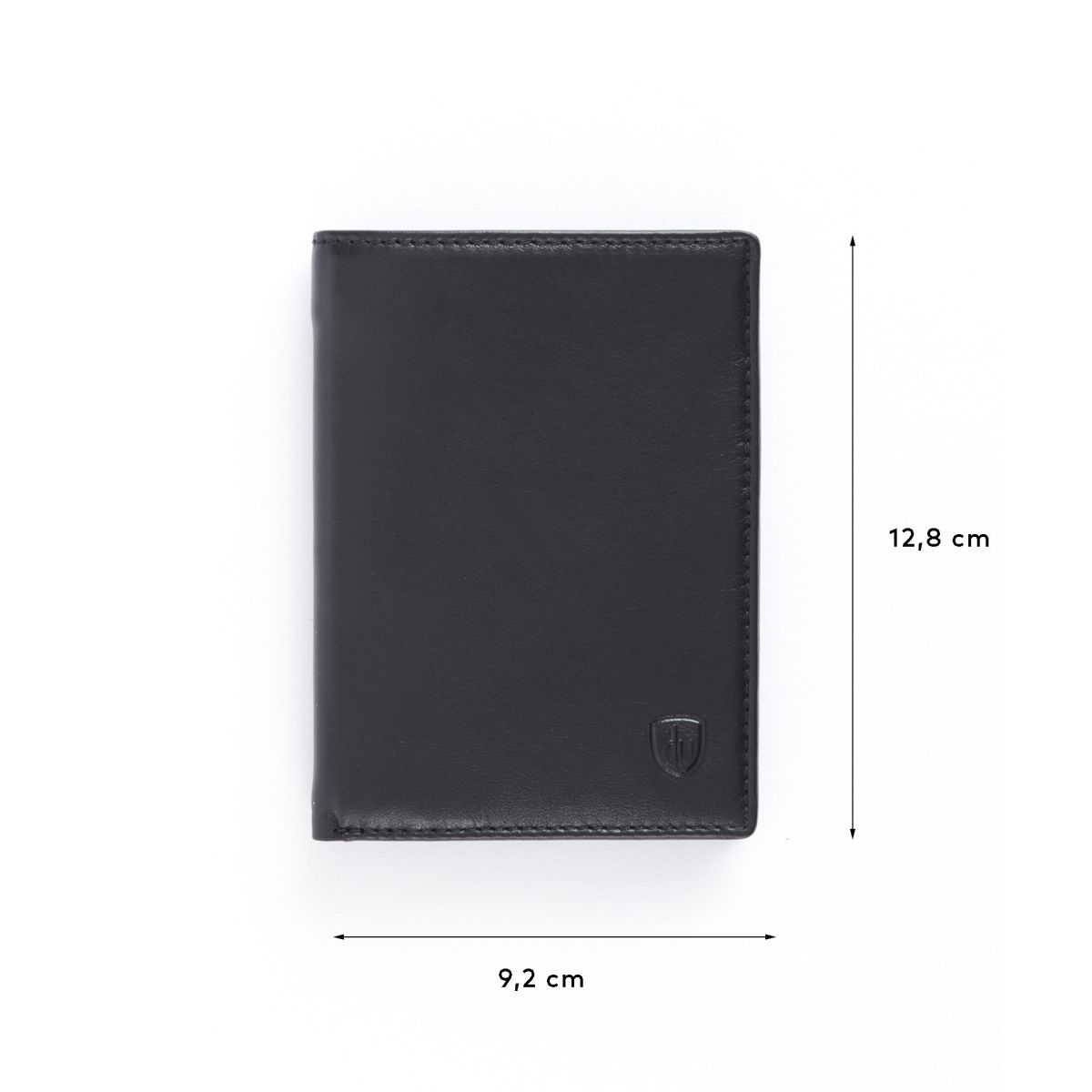 dv Mens leather vertical wallet - Black