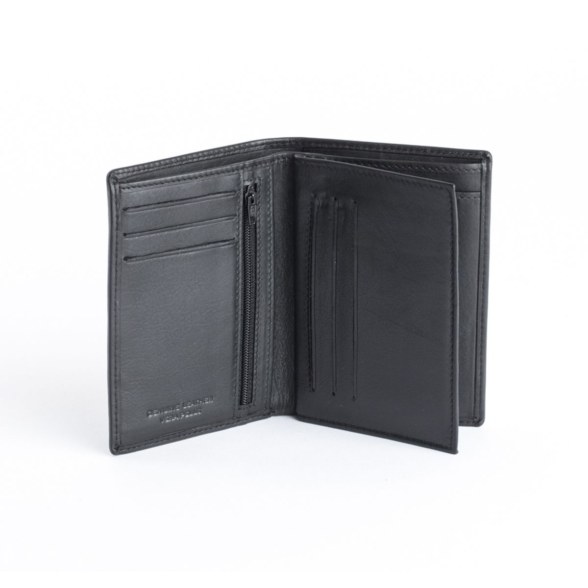 dv Mens leather vertical wallet - Black