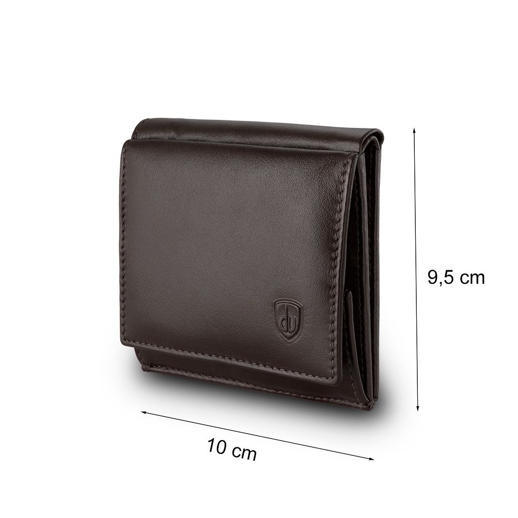 dv Small mans elegant billfold wallet  - Dark Brown