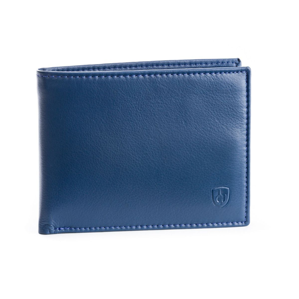 Slim Leather wallet with coin purse - Blue