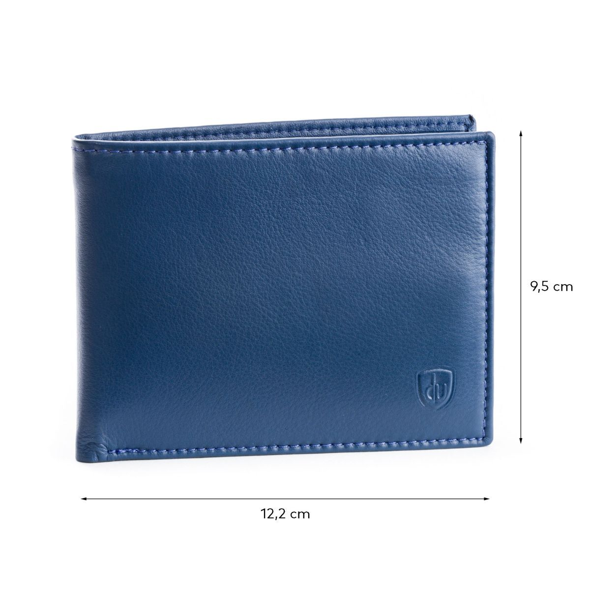 dv Slim Leather wallet with coin purse - Blue