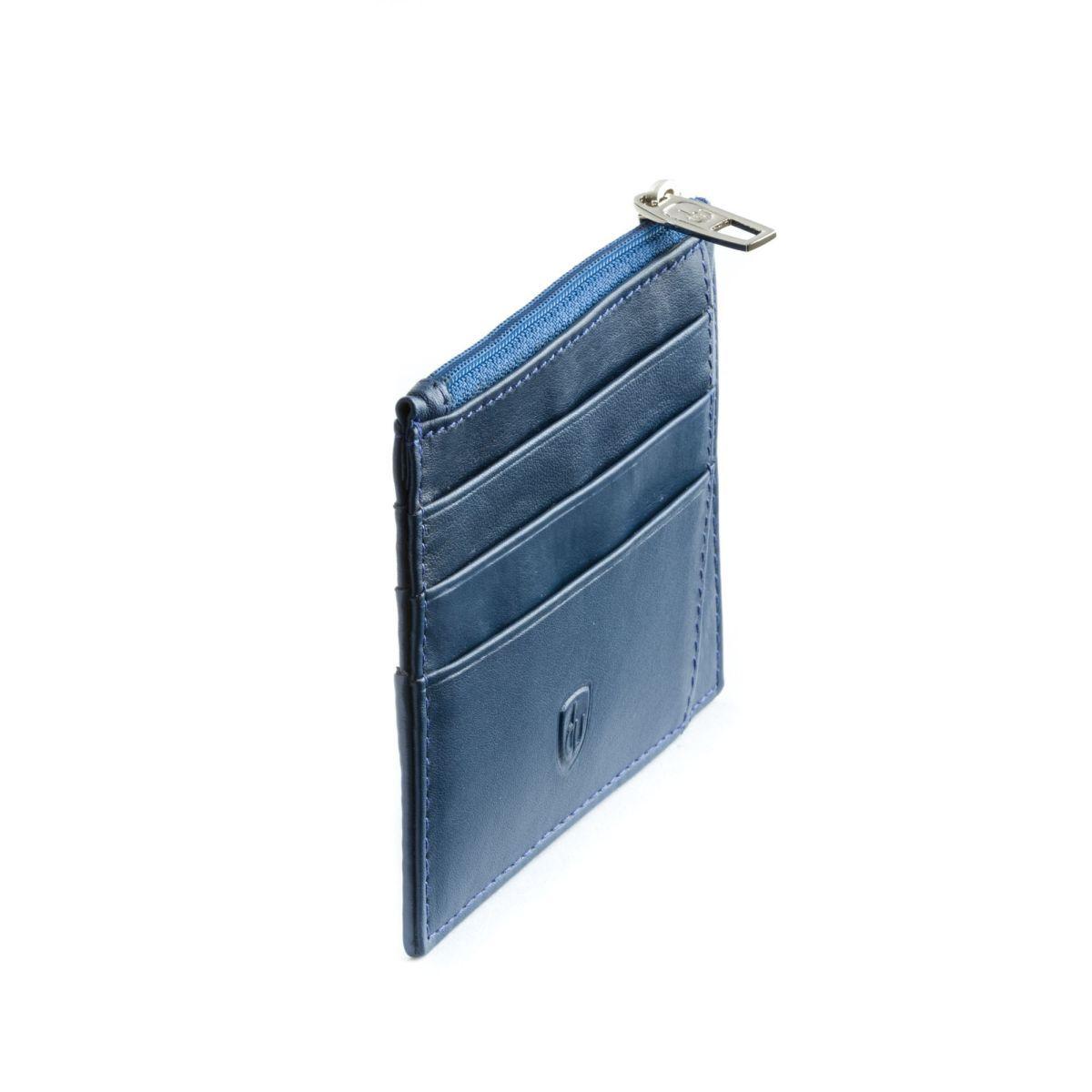 dv ארנק מינימלסטי עם תא למטבעות - כחול