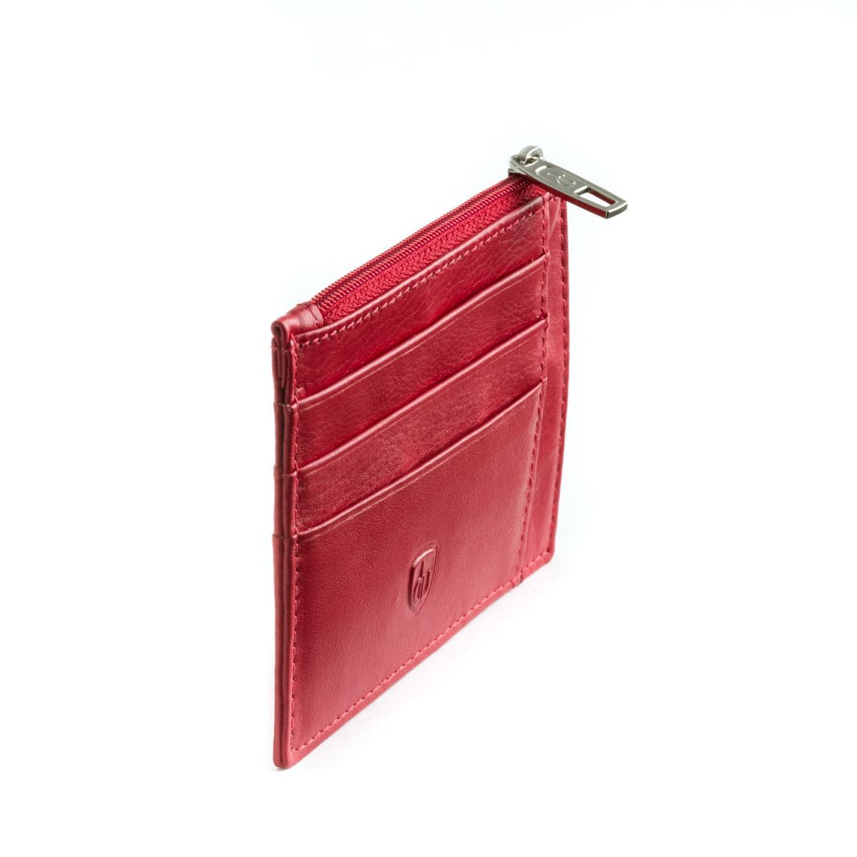 dv ארנק מינימלסטי עם תא למטבעות - אדום