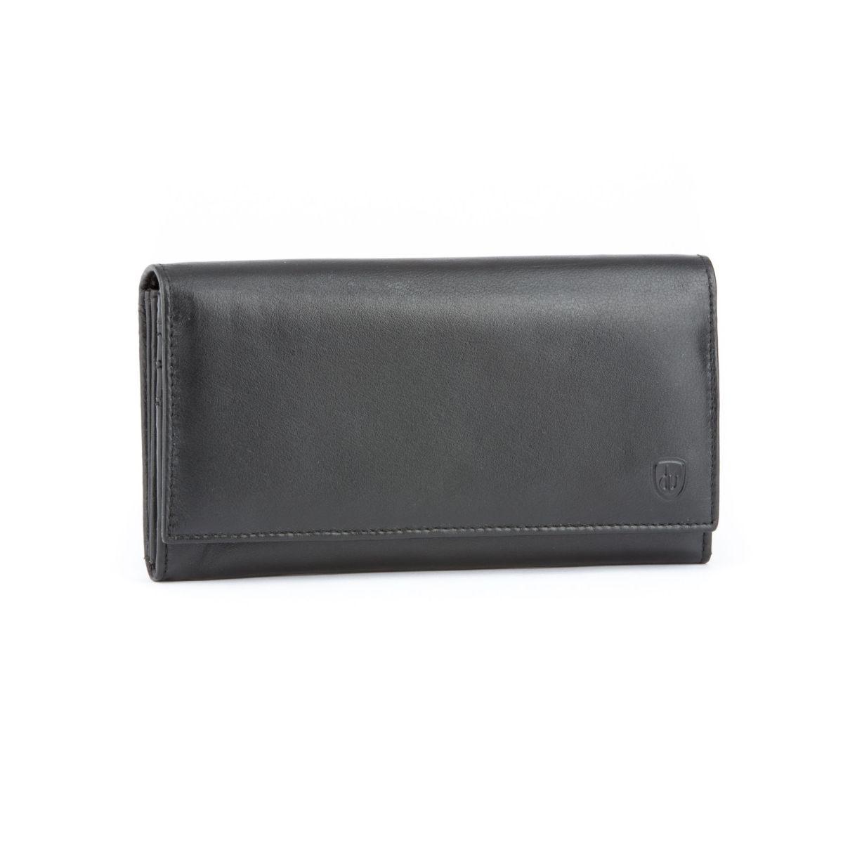 dv Ladies accordion premium leather wallet - Dark Brown