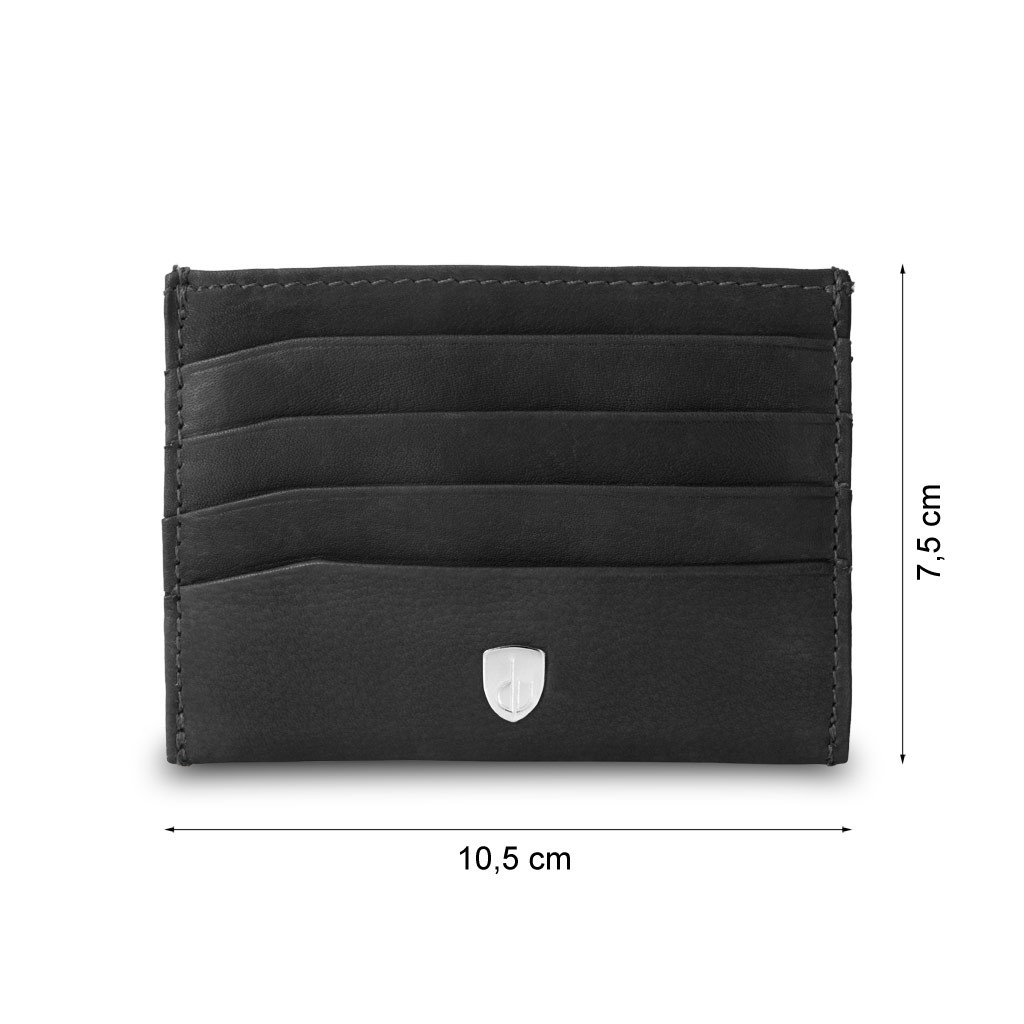 dv Minimalist leather credit card wallet - Black