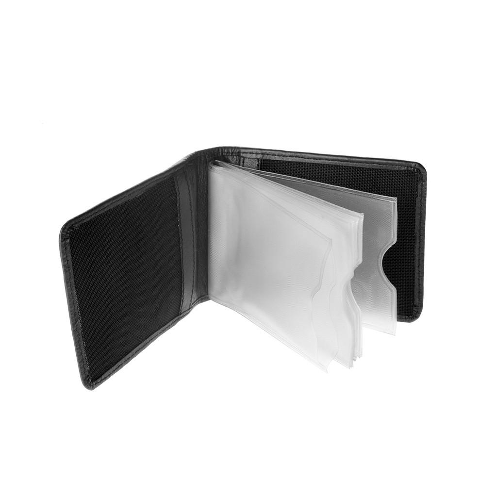 dv ארנק קומפקטי לכרטיסי אשראי - שחור
