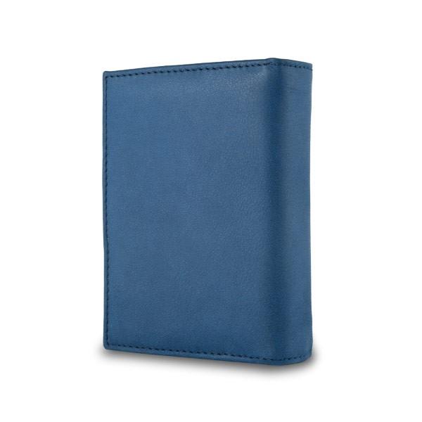 NUVOLA PELLE ארנק עור לאישה עם סוגר חיצוני - כחול