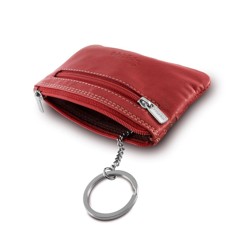 NUVOLA PELLE Leather key holder - Red