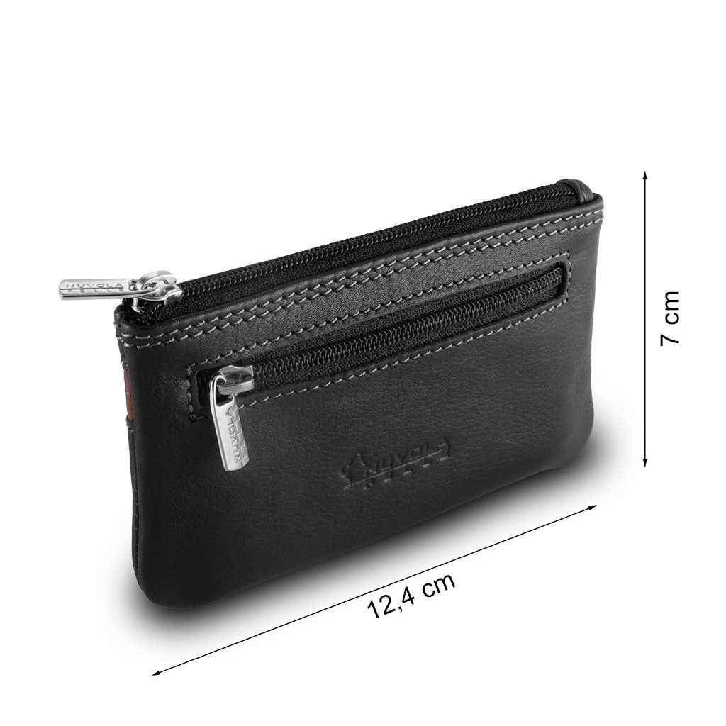 NUVOLA PELLE Leather key holder - Black