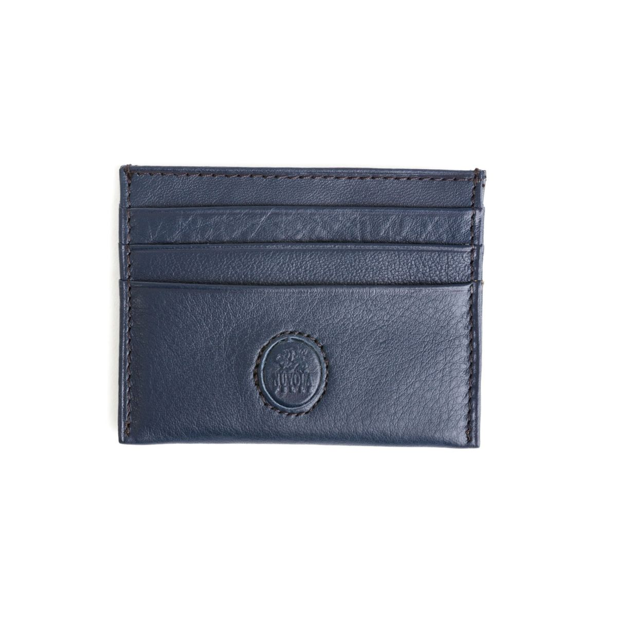 NUVOLA PELLE Minimalist leather credit card wallet - Blue