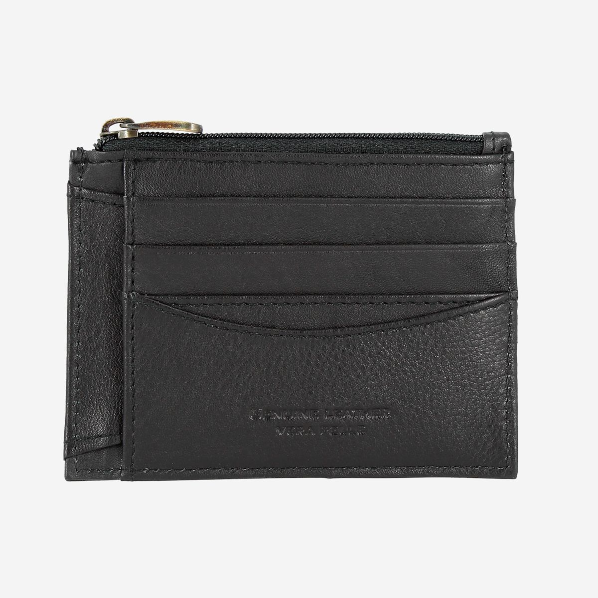 NUVOLA PELLE Slim Leather Credit Card Wallet - Black