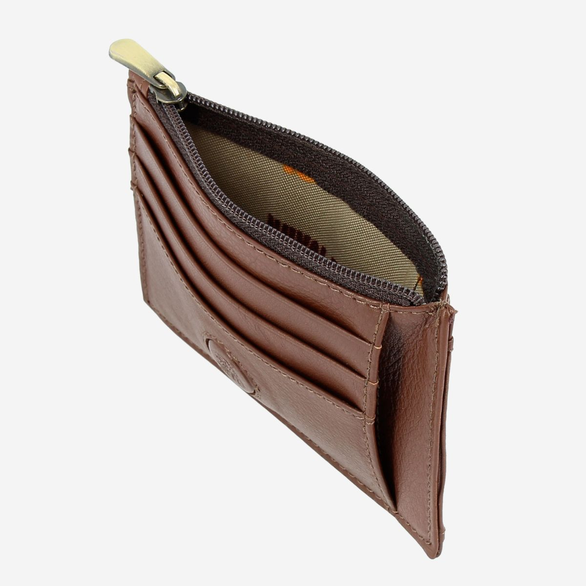 Slim Leather Credit Card Wallet - Dark Brown