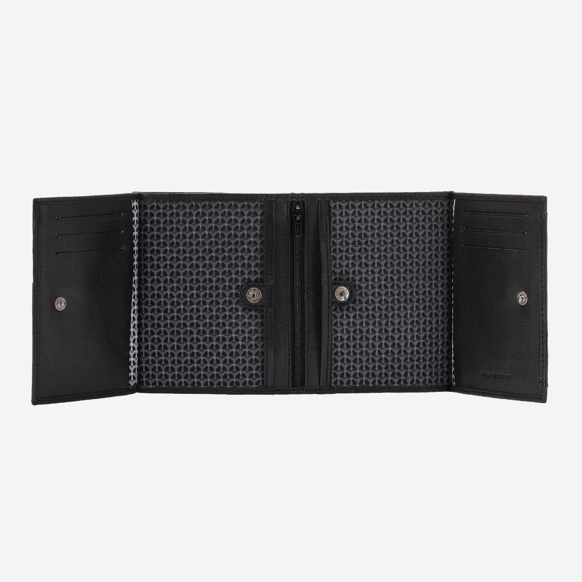 NUVOLA PELLE Vertical small leather wallet with coin pocket - Black