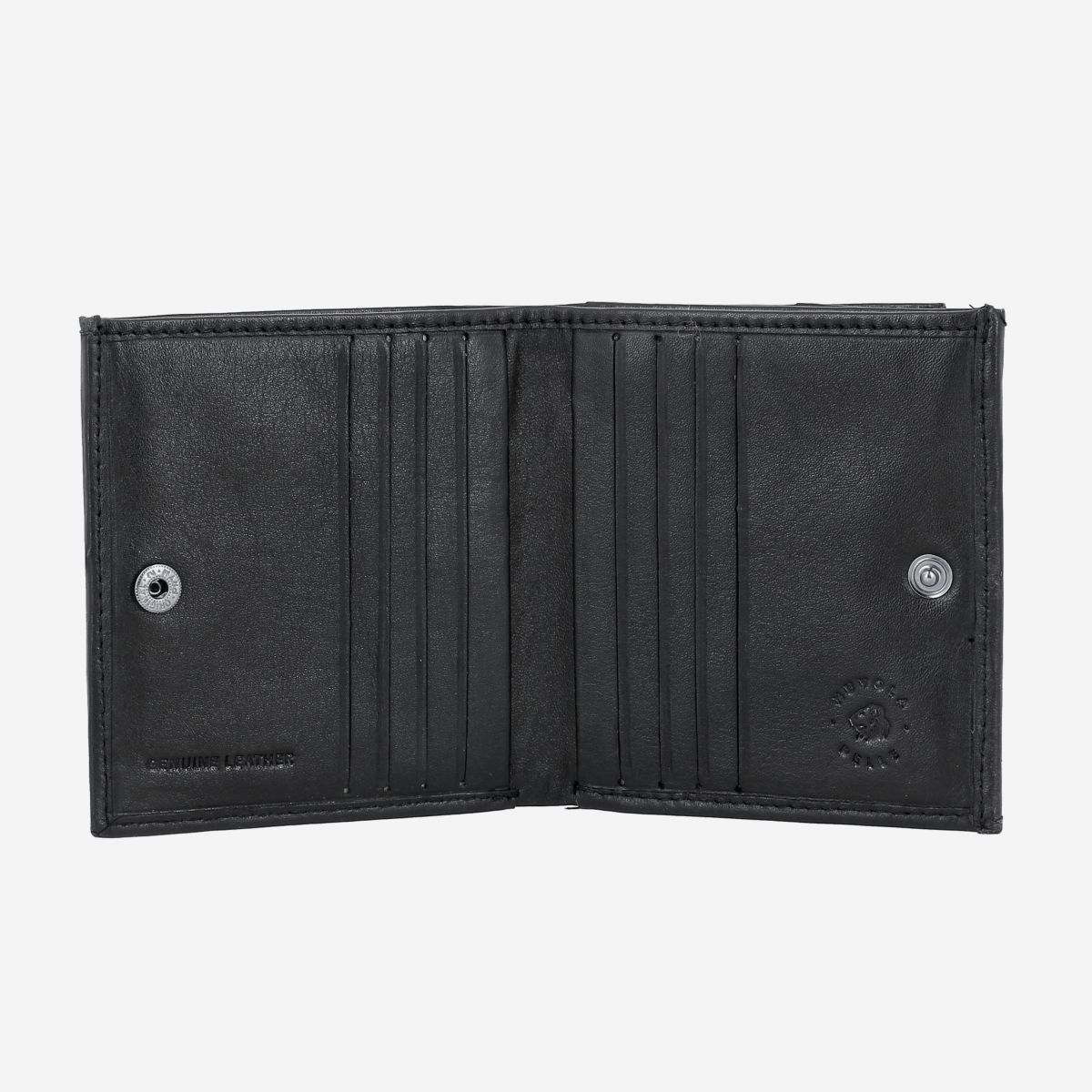 NUVOLA PELLE Small Unique Leather Wallet  - Black