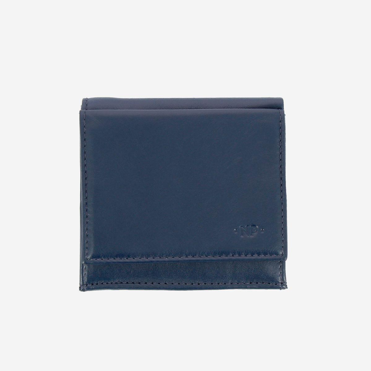 NUVOLA PELLE ארנק עור עם תא ייחודי למטבעות - כחול