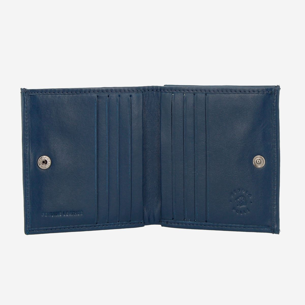 NUVOLA PELLE Small Unique Leather Wallet  - Blue
