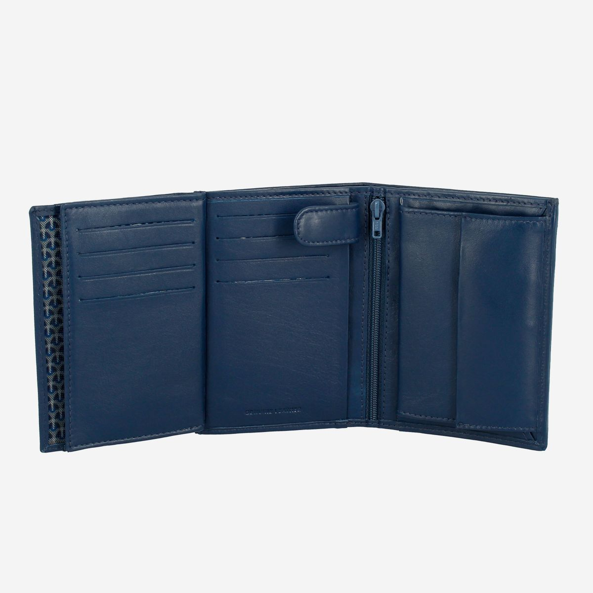 NUVOLA PELLE Mens Vertical Wallet With Coin Pocket - Blue