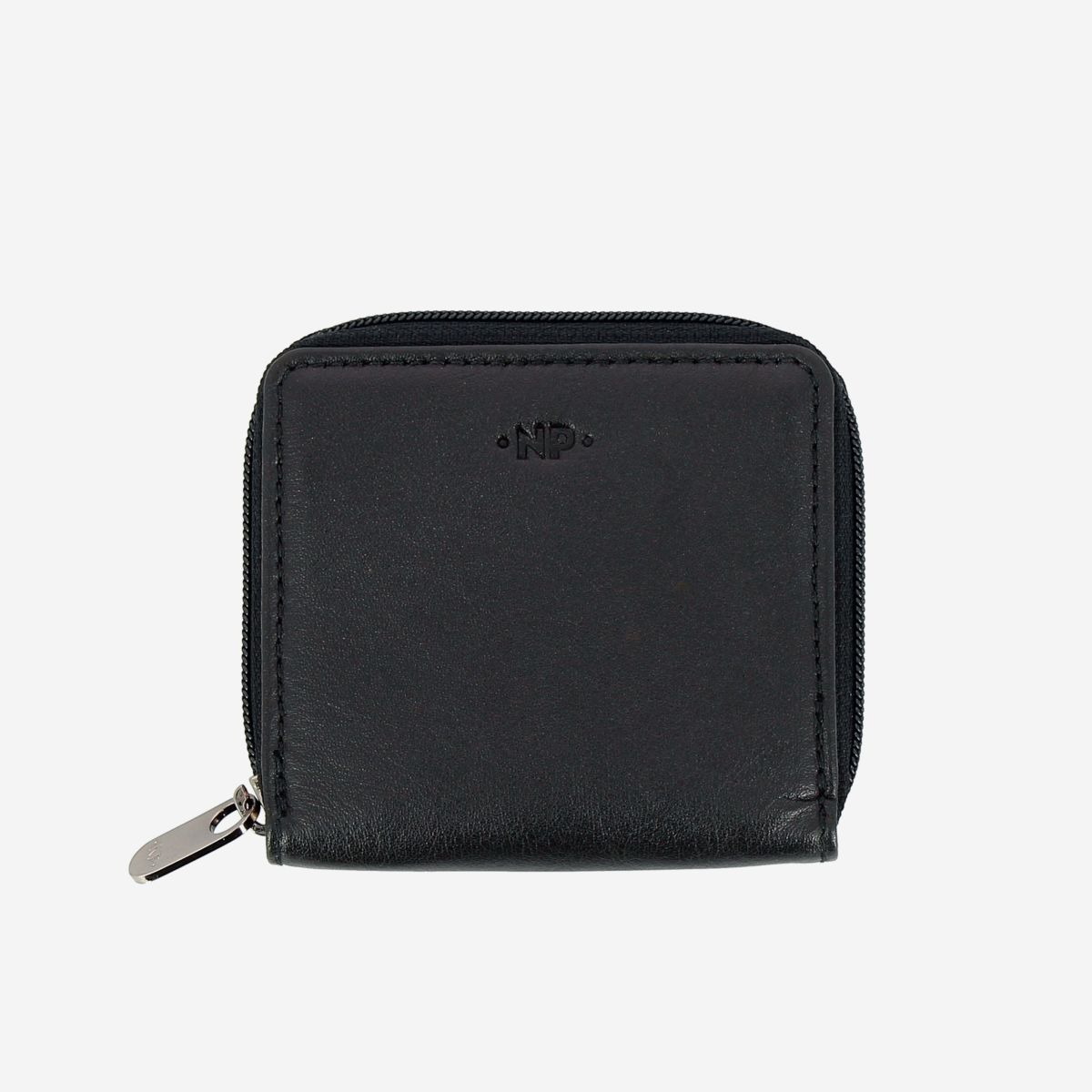 NUVOLA PELLE Leather Coin Purse - Black