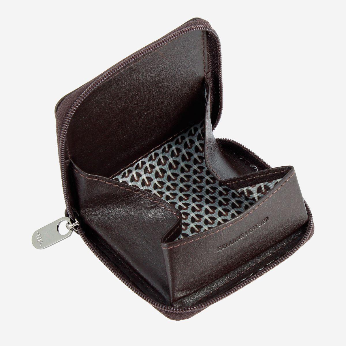 Leather Coin Purse - Dark Brown