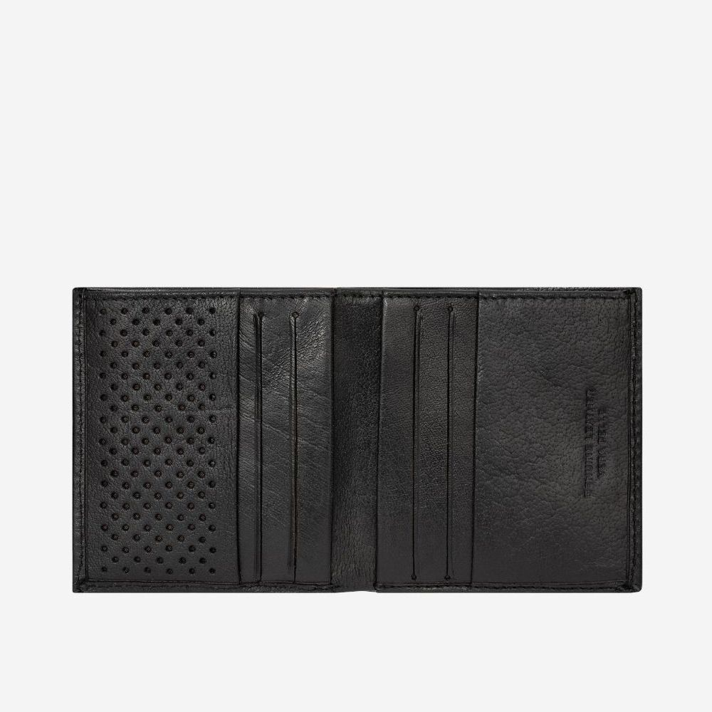 DuDu Small Unique Leather Wallet  - Black