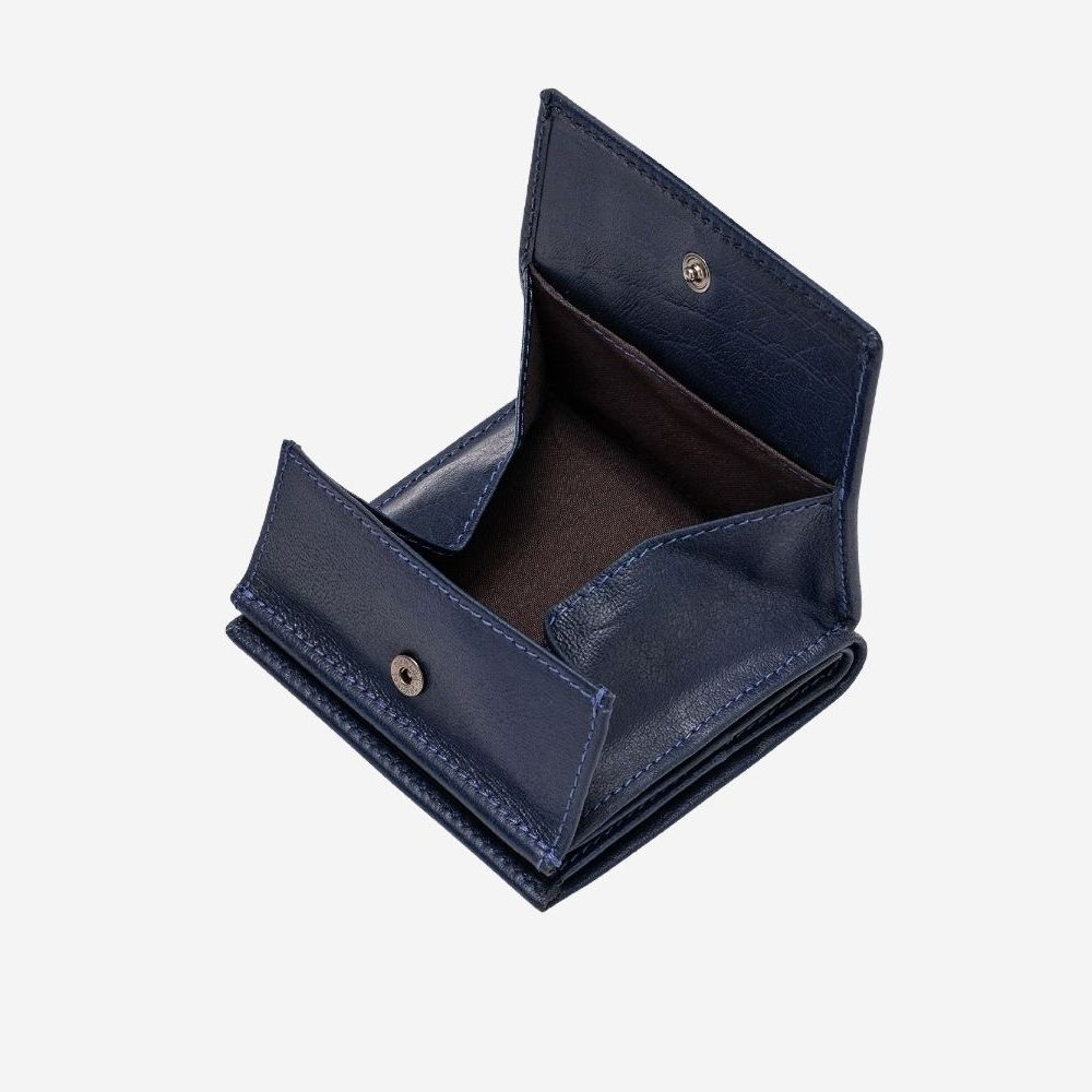 DuDu Small Unique Leather Wallet  - Blue