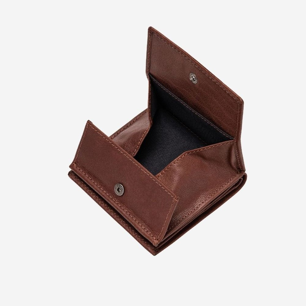 DuDu Small Unique Leather Wallet  - Brown