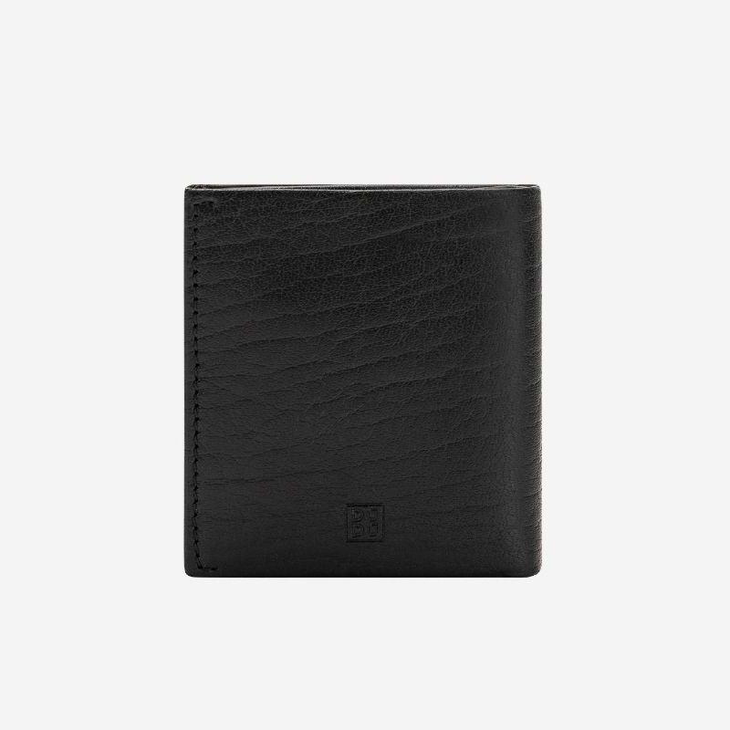 DuDu ארנק עור עם תא ייחודי למטבעות - שחור