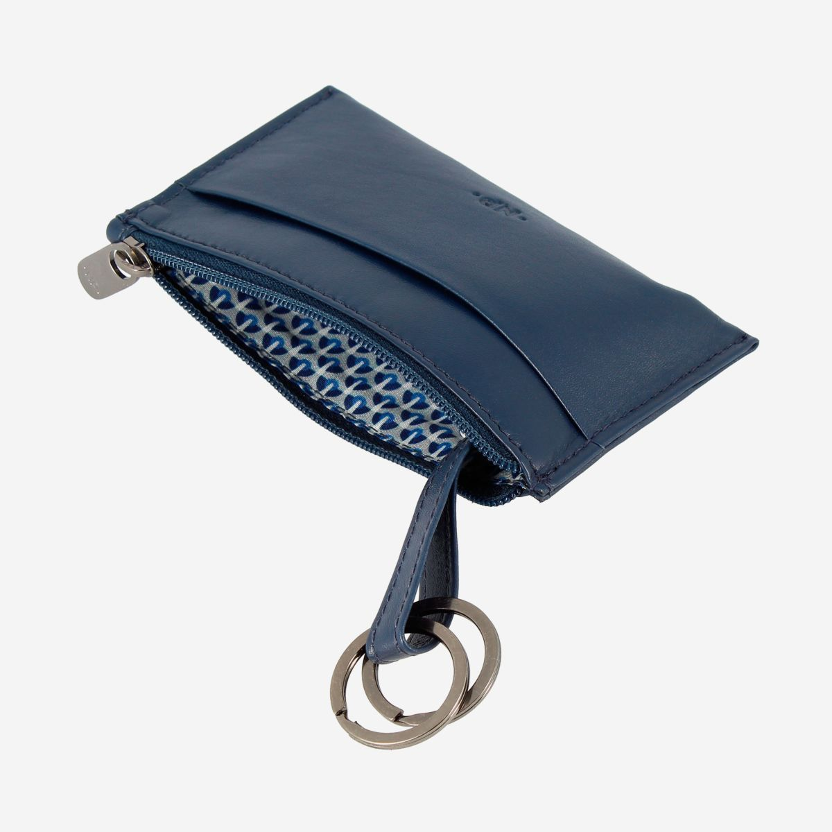 Leather Coin Purse - Blue