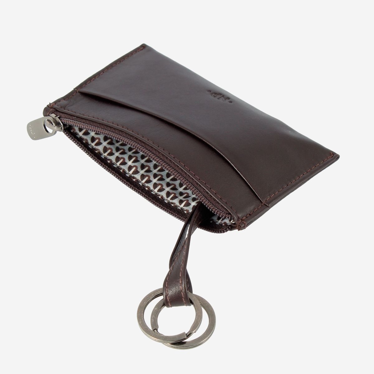 NUVOLA PELLE Leather Coin Purse - Dark Brown