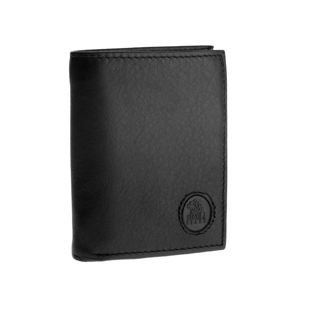 NUVOLA PELLE Vertical small leather wallet - Black