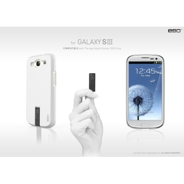 ego USB Case for Galaxy S3 - White 4GB