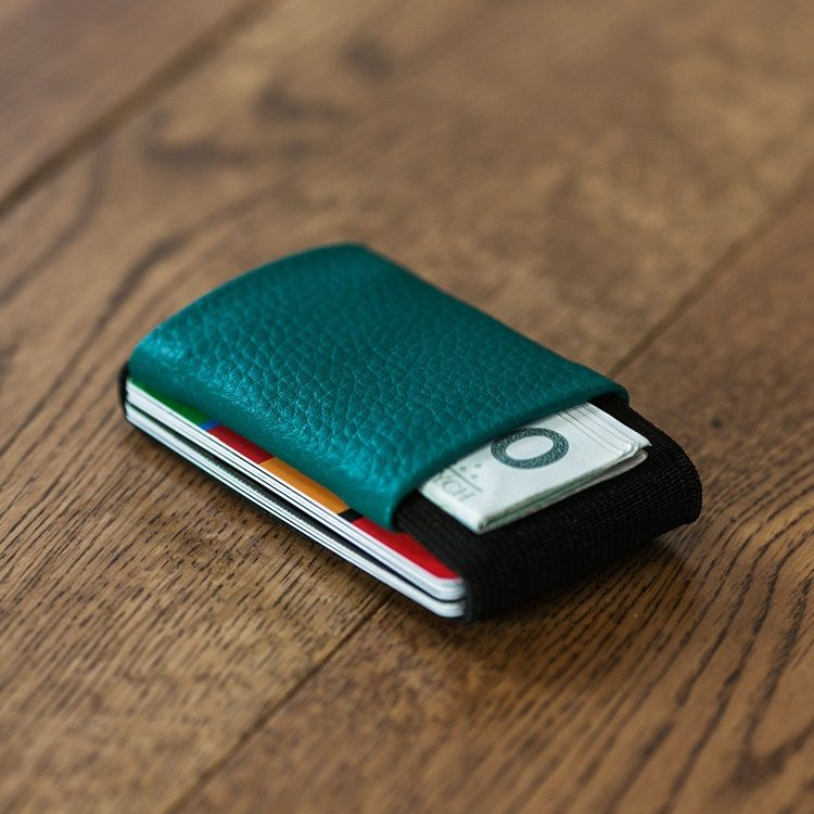 elephant Minimalist Rubber Wallet - Teal