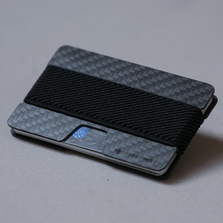 elephant Minimalist Carbon Fiber Wallet - Carbon/Black