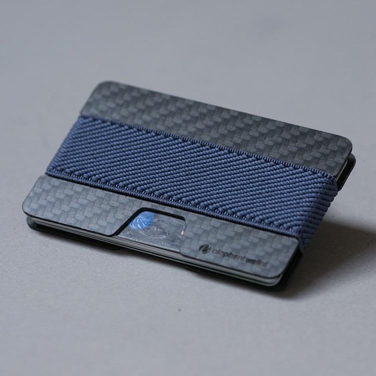 elephant Minimalist Carbon Fiber Wallet - Carbon/Dark Blue