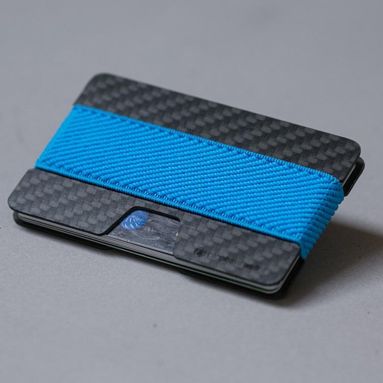 Minimalist Carbon Fiber Wallet - Carbon/Blue
