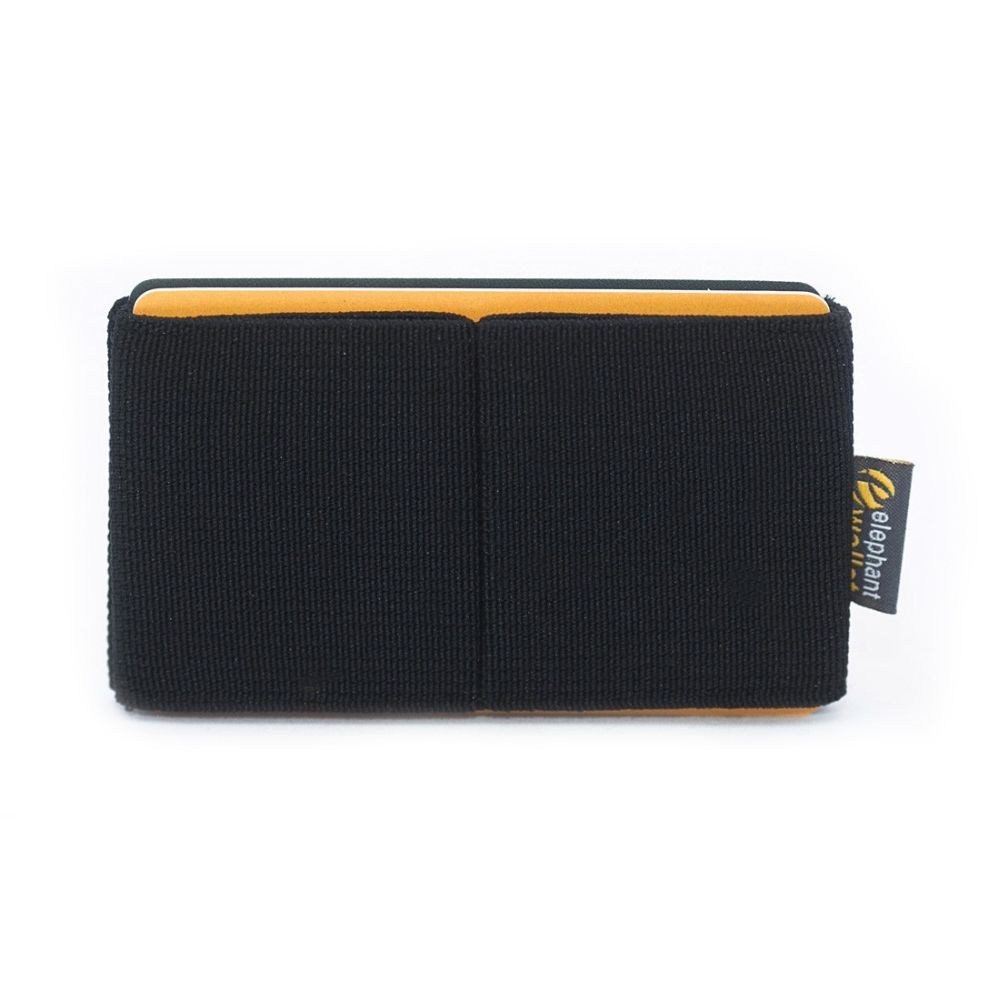 elephant Minimalist Rubber Wallet - Black