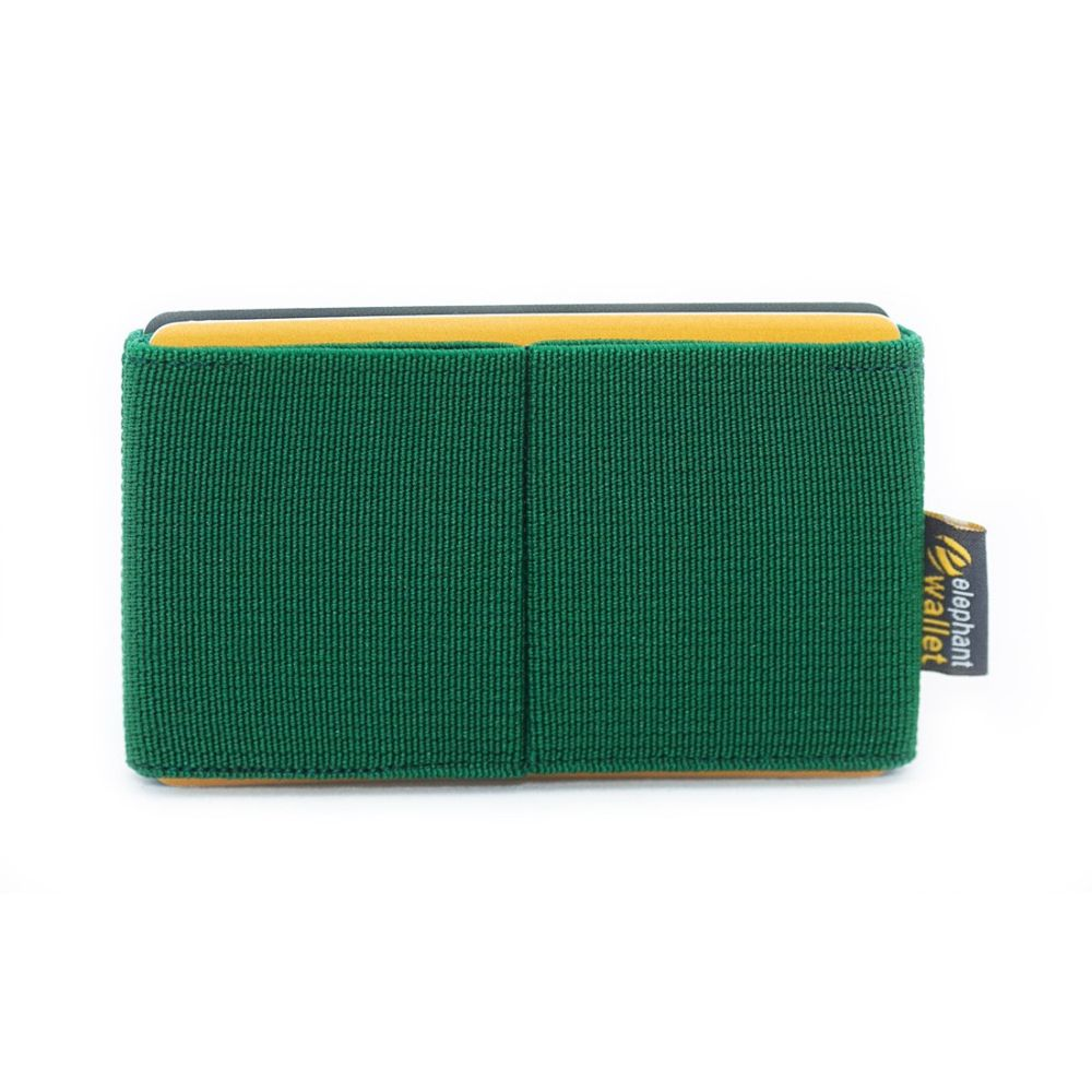 elephant Minimalist Rubber Wallet - Green