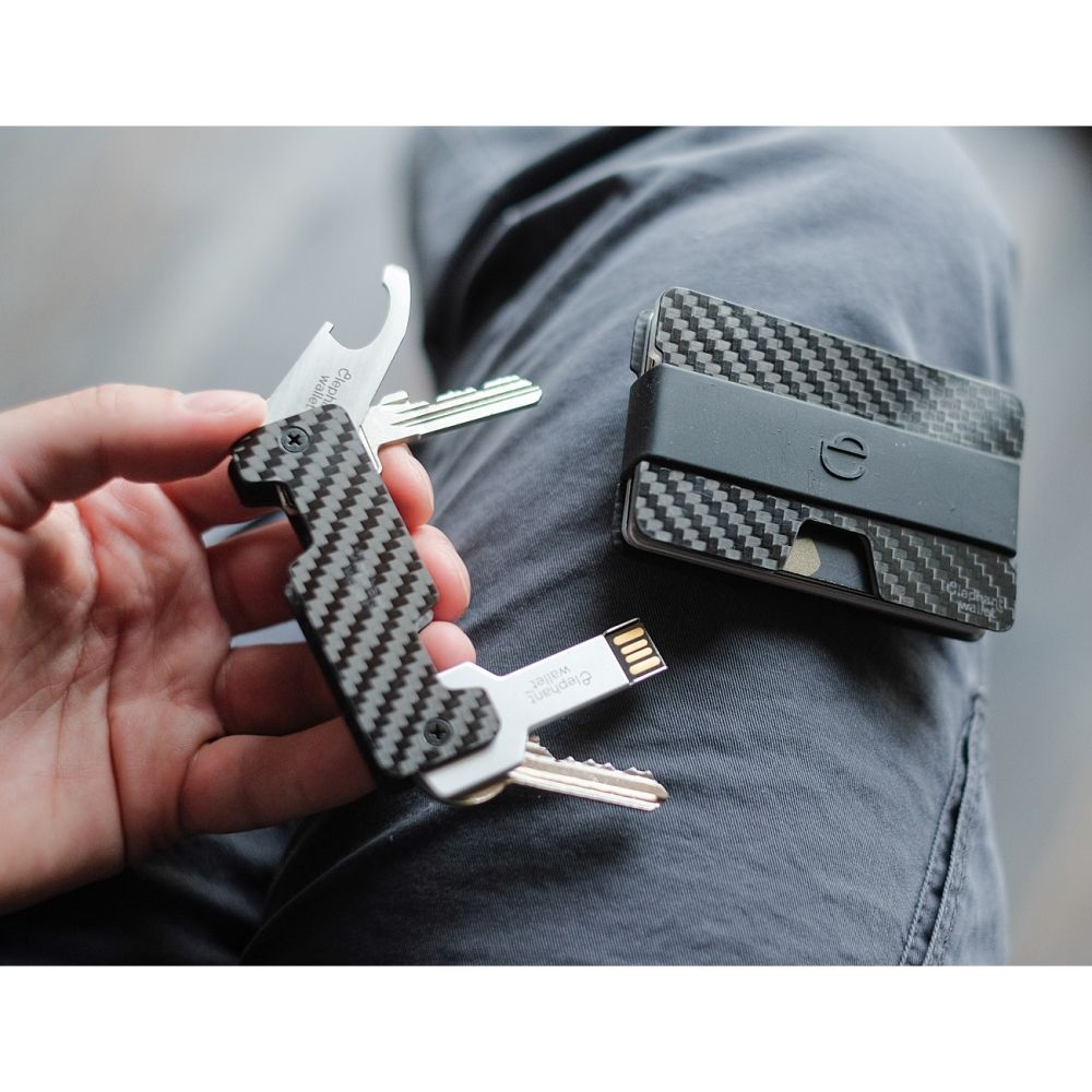 elephant Carbon Fiber Key Organizer - Black