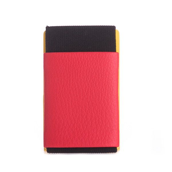 Minimalist Rubber Wallet - Red