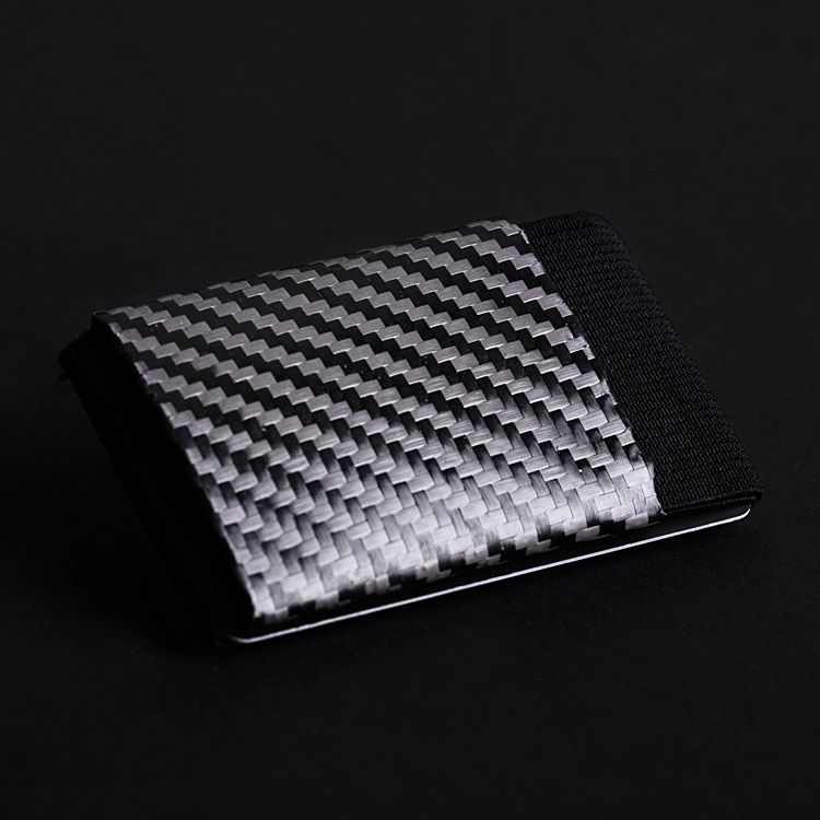 elephant Minimalist Soft Carbon - Rubber Wallet - Black