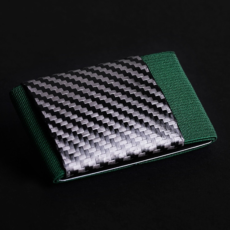 elephant Minimalist Soft Carbon - Rubber Wallet - Green