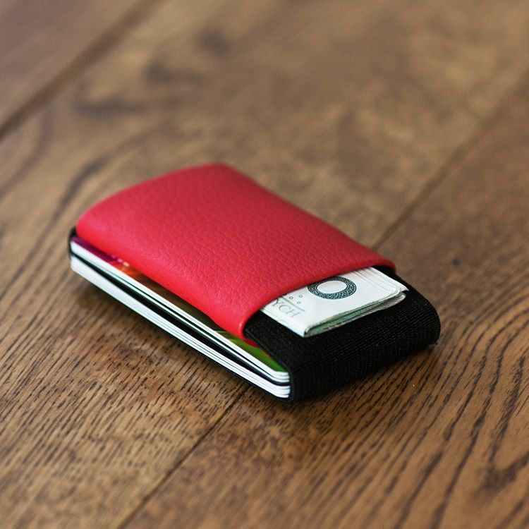 elephant Minimalist Rubber Wallet - Red