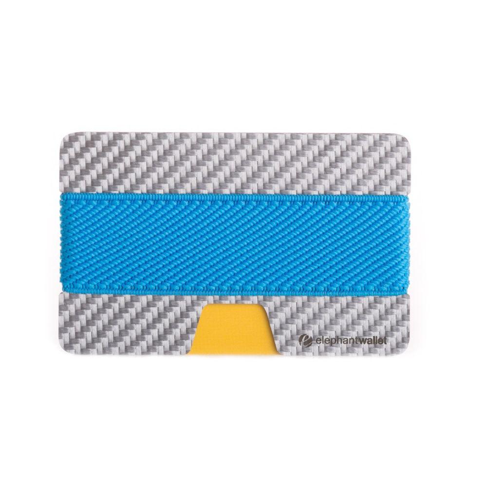 Minimalist White Carbon Fiber Wallet - Carbon/Azure